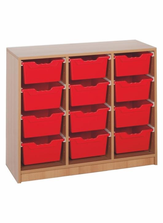 "Regal mit 12 Ergo Tray Boxen ""L"", B/H/T: 104,5 x 82,8 x 40 cm"