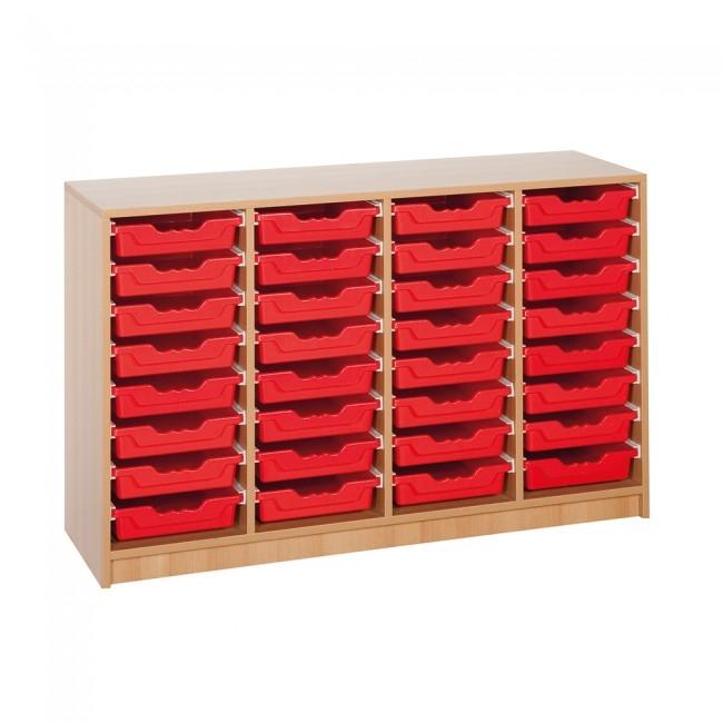 "Regal mit 32 Ergo Tray Boxen ""M"", B/H/T: 138,5 x 82,8 x 40 cm"