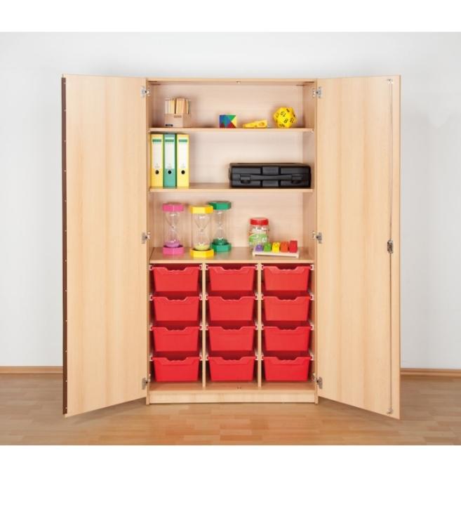 """Hochschrank mit 12 Ergo Tray Boxen """"L"""", B/H/T: 104,5 x 190 x 50 cm"""