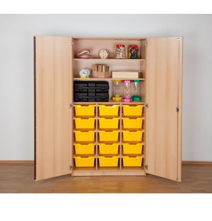 """Hochschrank mit 15 Ergo Tray Boxen """"L"""", B/H/T: 104,5 x 190 x 50 cm"""