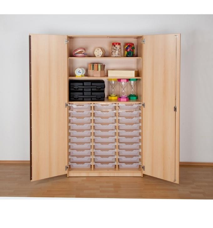 """Hochschrank mit 30 Ergo Tray Boxen """"M"""", B/H/T: 104,5 x 190 x 50 cm"""