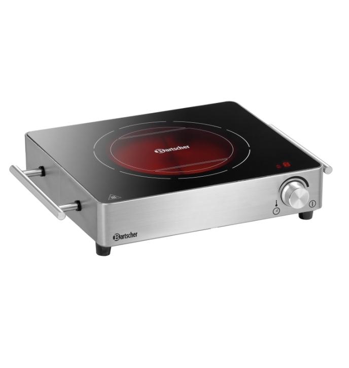 Elektro-Kocher 1K2200 GL, B/T/H 395 x 315 x 85 mm, Ø 165 mm