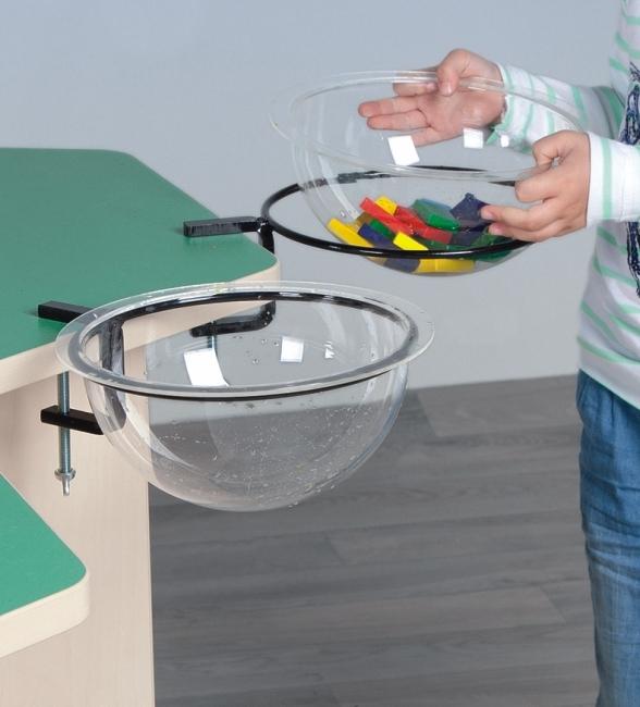 Kugeldisplay aus klarem Kunststoff, inkl. Halterung