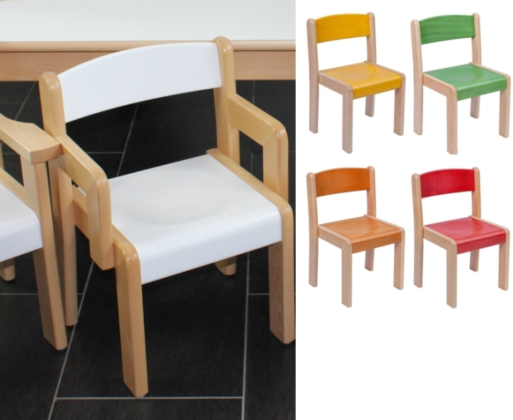 Stuhl FINN mit Armlehnen Typ 2, mit Farbe nach Wahl