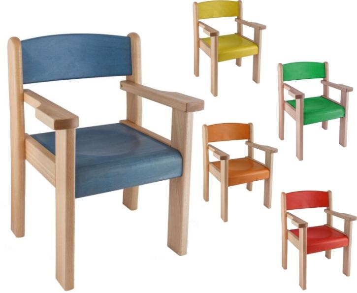 Stuhl FINN mit Komfortarmlehnen, mit Farbe nach Wahl