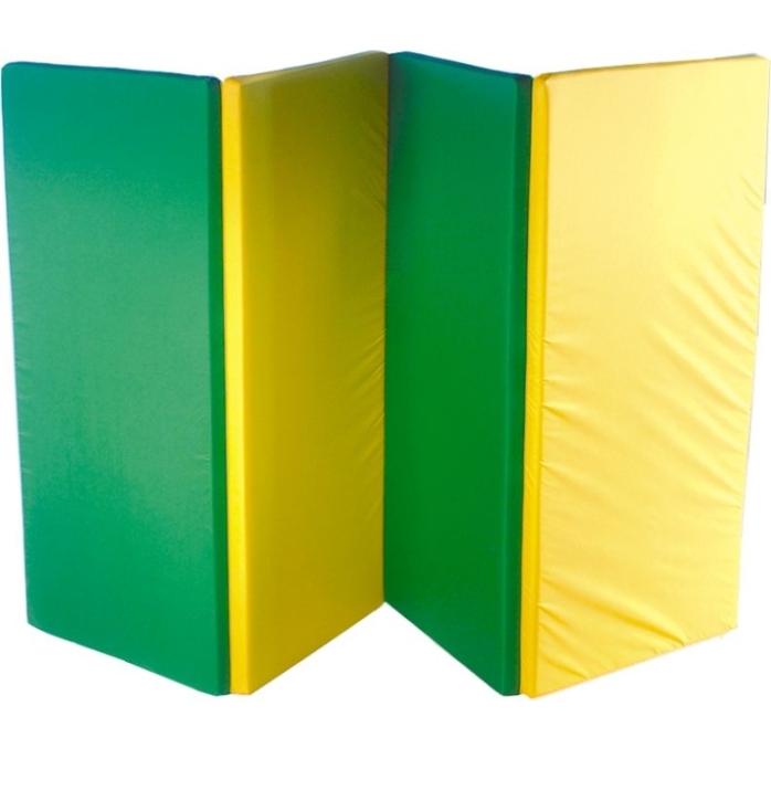 Falt-Turnmatte 4-teilig, auf: 240x120x4 / zu: 60x120x16 cm