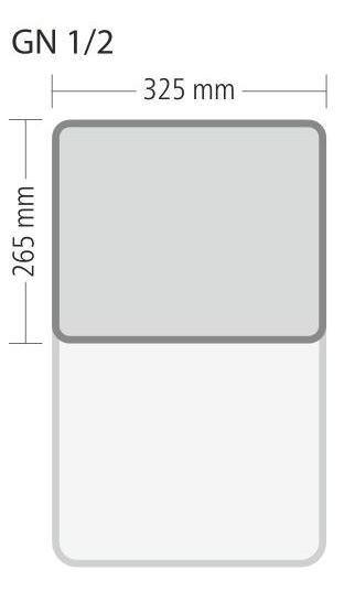 """Gastronorm """"Serie 70"""" - Größe 1/2 GN (= 325×265 mm)"""