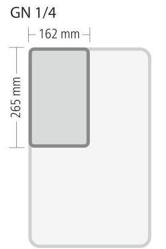 """Gastronorm """"Serie 70"""" - Größe 1/4 GN (= 265×162 mm)"""