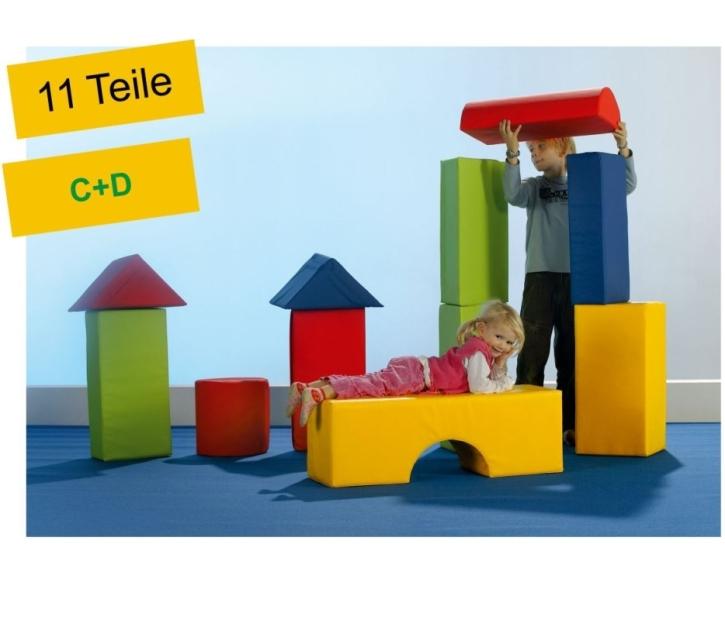 """Schaumstoffbausteine-Set """"Beginner"""", 11-teilig (C+D)"""