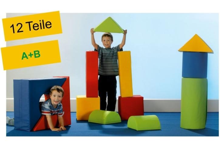 """Schaumstoffbausteine-Set """"Tower"""", 12-teilig (A+B)"""