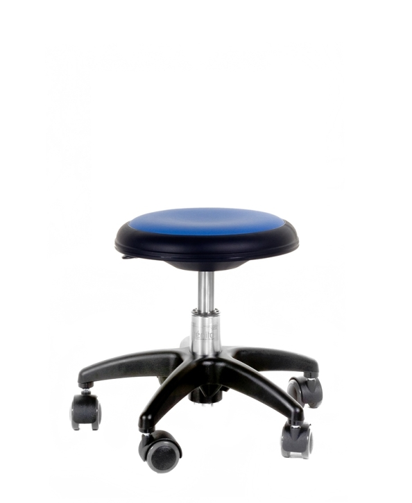 Genito ohne Lehne (= Hocker), 38-48 cm, 037 Kunstleder blau