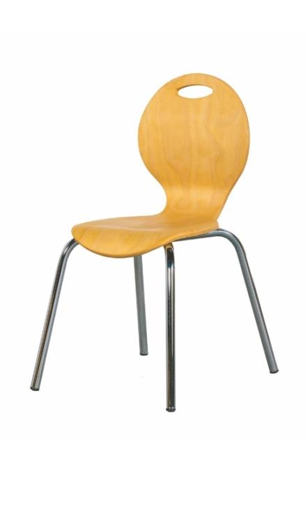 Stapelstuhl IRON, Sitzschale natur, Sitzhöhe 38 cm