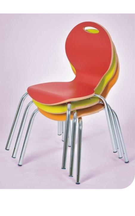 Stapelstuhl IRON, Sitzschale farbig, Sitzhöhe 31 cm