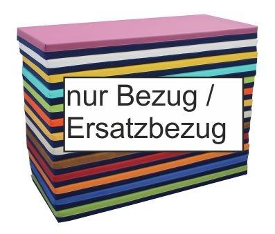 (Ersatz-)Bezug für Liegepolster-Schaumstoff, eine Seite Baumwollmischgebebe, andere Seite Kunstleder (Größe, Farbe wählen)