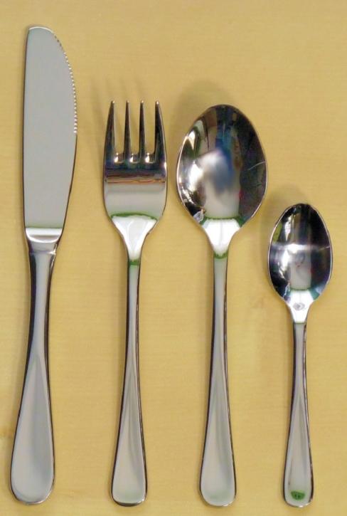 """Kinderbesteck ohne Motiv """"Cosmos"""" - Messer gezahnt, 17,8 cm"""