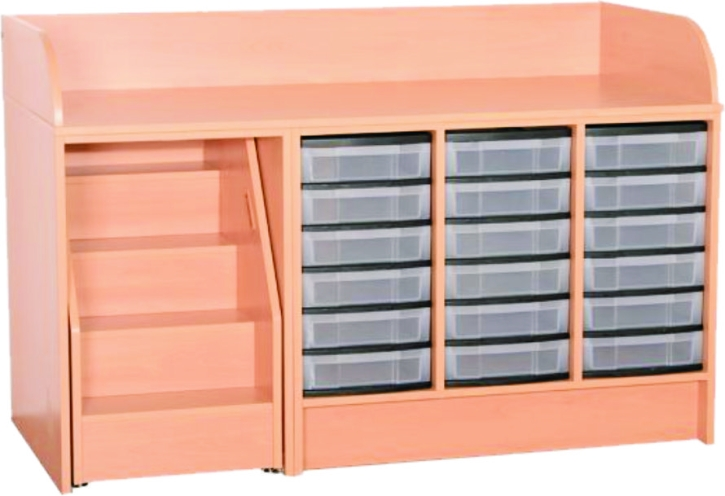 wickelkommode mit ausziehbarer treppe mit kunststoffsch ben breite 148 cm ausf hrung w hlen. Black Bedroom Furniture Sets. Home Design Ideas