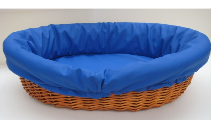 Schlafkorb groß, Kunstlederbezug, Matratze integriert