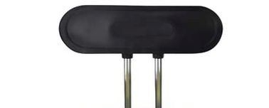 Lehne OVAL 9 x 30 cm, schwarzer Kunststoff (passend für Genito-Stühle)