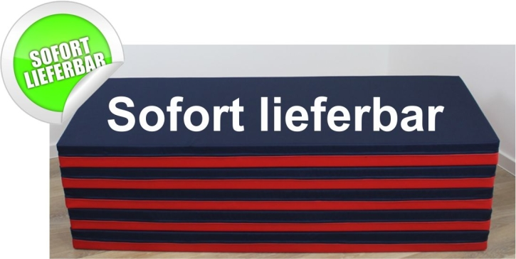 "Bodenliegepolster 120 x 60 x 8 cm, ""Jeansstoff"" / Kunstleder ROT"