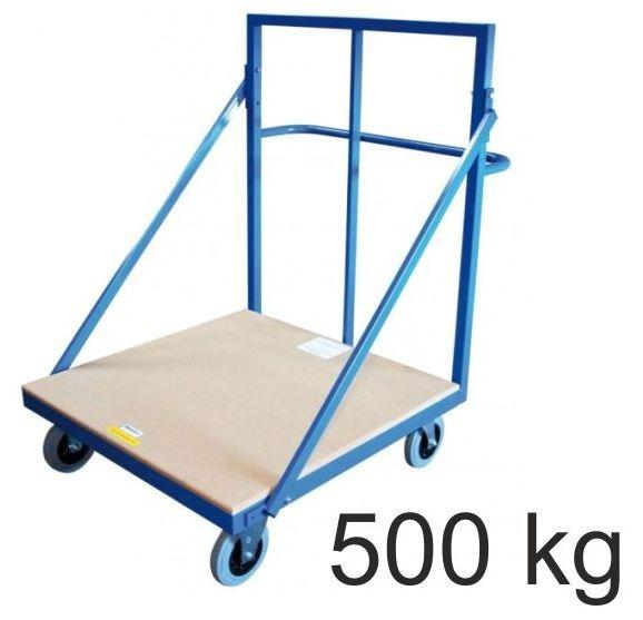 Mattentransportwagen mobil, Tragkraft 500 kg, 100×100 cm, Höhe 150 cm