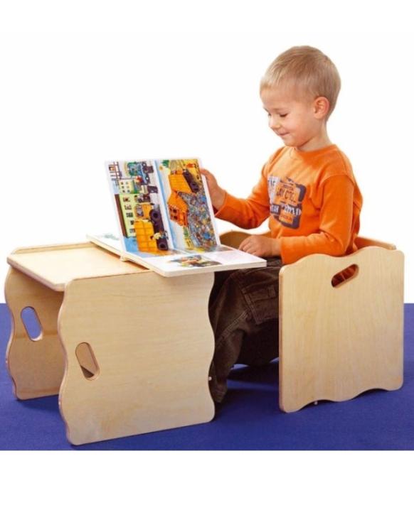 Multifunktionshocker, Sitzhöhen 16+20 cm sowie Tischhöhe 34 cm