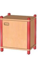 Stollenschrank Breite 56 cm, 40 cm Hoch