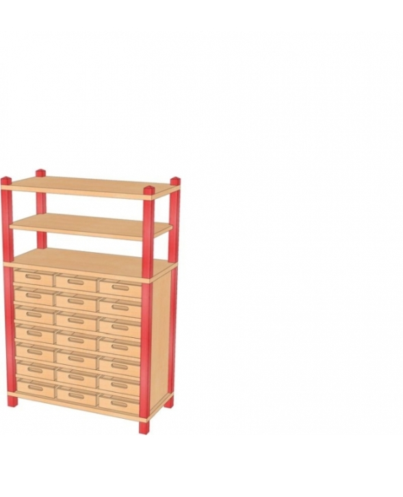 Stollenschrank mit Massivholzkästen, B/H/T 82 x 120 x 40 cm