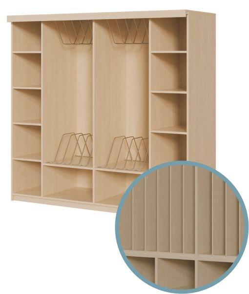 Geräumige Schränke, Kapazität 4-12 Polster, mit Vorhangeinrichtung, OHNE Vorhang (Variante wählen!)