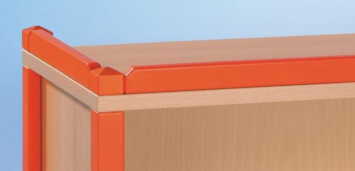 Zubehör: Aufsatzleiste für Stollenmöbel aus massiver Buche