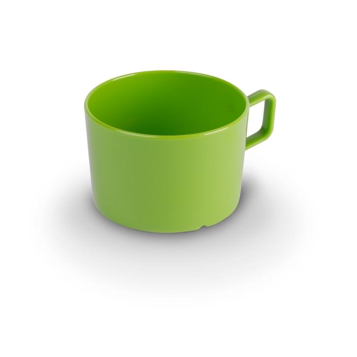 "Kunststoffgeschirr ""Kinderzeug"" - (2) Tasse HELLGRÜN 0,2 Liter, Ø 75 x H 50 mm"