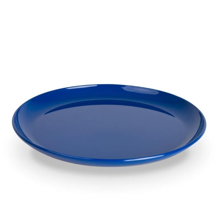 """Kunststoffgeschirr """"Kinderzeug"""" - (9) Mittagsteller / Teller flach BLAU Ø 240 mm"""
