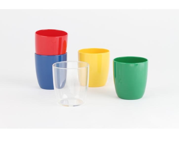 Kunststoffgeschirr aus POLYPROPYLEN - Kinderbecher 0,18 Liter, Ø 65 x H 75 mm  (Farbe wählen)