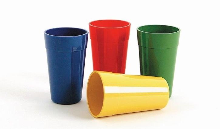 (5) Trinkbecher 0,25 Liter, Ø 70 x H 120 mm  (Farbe wählen)