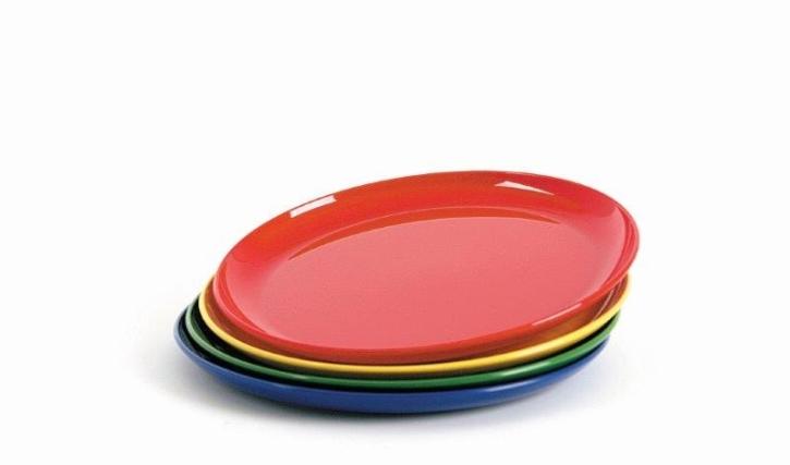 Kunststoffgeschirr aus POLYPROPYLEN - Frühstücks- / Dessertteller Ø 190 mm  (Farbe wählen)