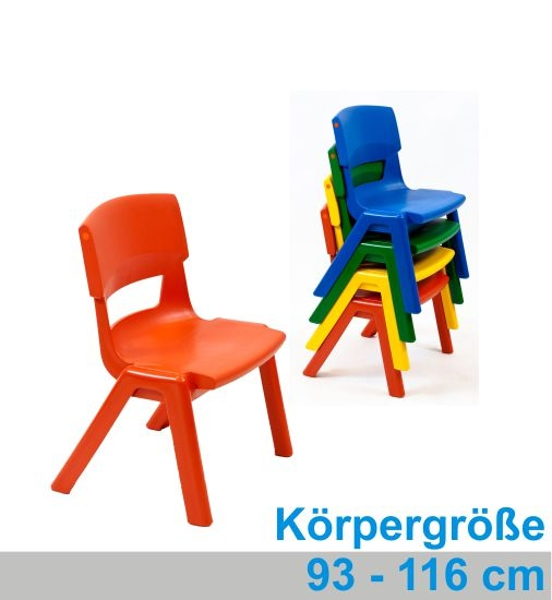 POSTURA+ Kunststoffstuhl - Sitzhöhe 26 cm