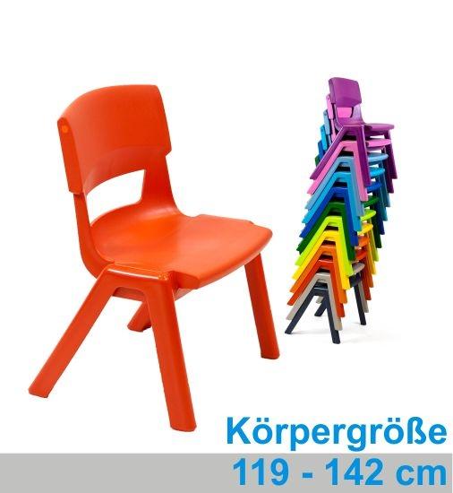 POSTURA+ Kunststoffstuhl - Sitzhöhe 35 cm