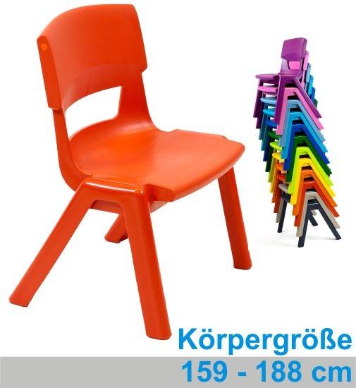 POSTURA+ Kunststoffstuhl - Sitzhöhe 46 cm