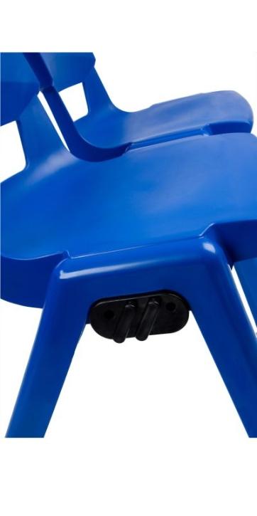 Reihenverbinder für Postura-Kunststoffstühle, geeignet für Sitzhöhe 43 und 46 cm