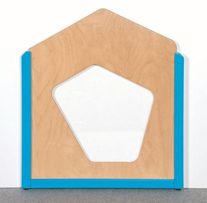 Raumteiler 5-Eck mit Fenster, B/H/T 70,5 x 60/80 x 4 cm