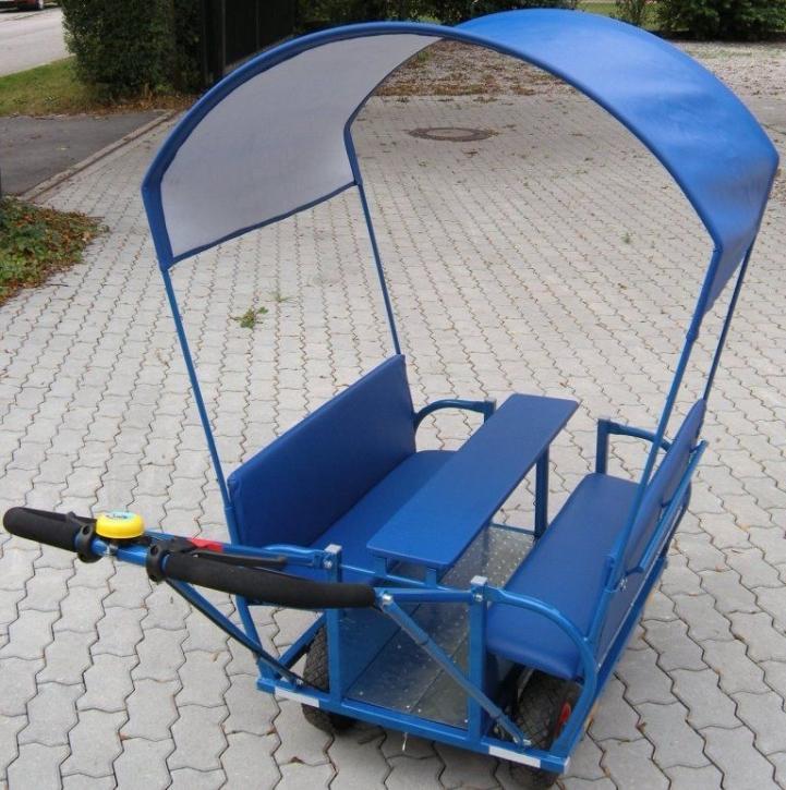 Regen- / Sonnenschutzdach, passend für Krippenwagen 6-Sitzer