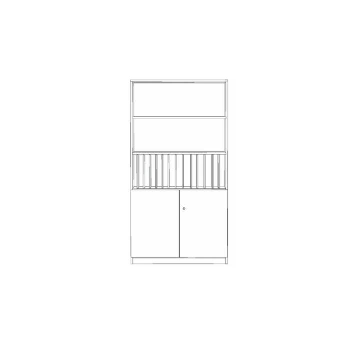 Klassenbuchschrank mit 14 Fächern, B/H/T 100x190x40 cm