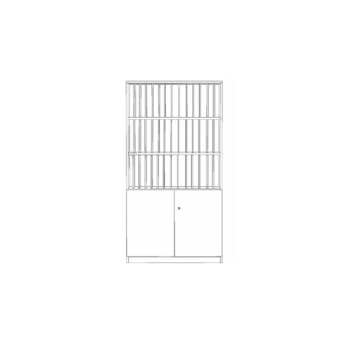 Klassenbuchschrank mit 42 Fächern, B/H/T 100x190x40 cm
