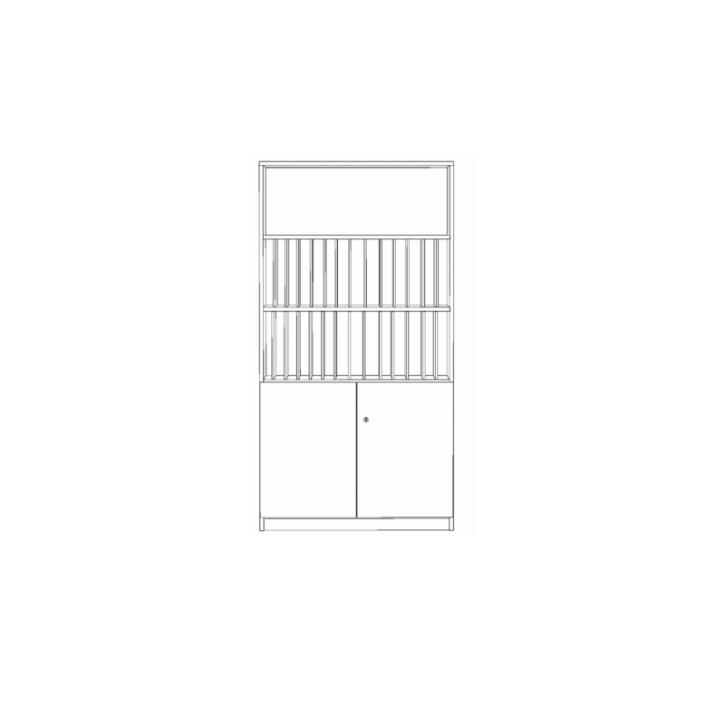 Klassenbuchschrank mit 28 Fächern, B/H/T 100x190x40 cm