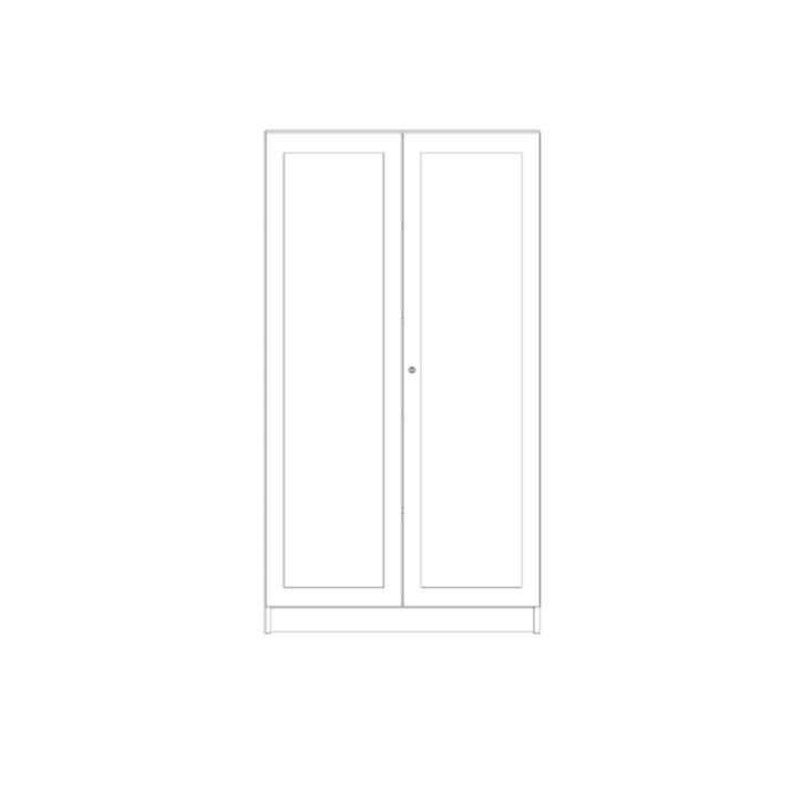 Schrank mit verglasten Türen, 2-türig, Breite: 100 cm, Höhe: 190 cm (Variante wählen)