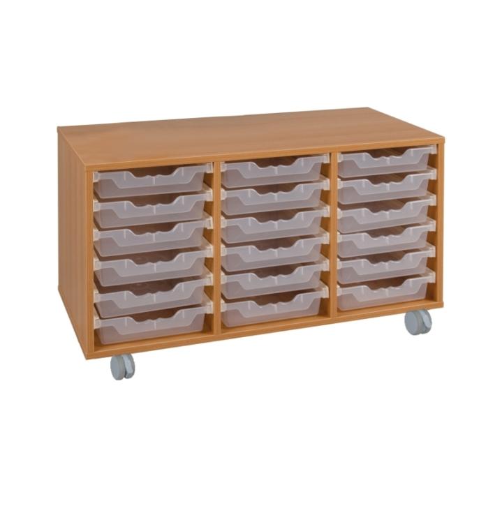 Fahrbarer Schrank mit ErgoTray-Boxen, B/H/T 105x117x40 cm (Variante wählen)