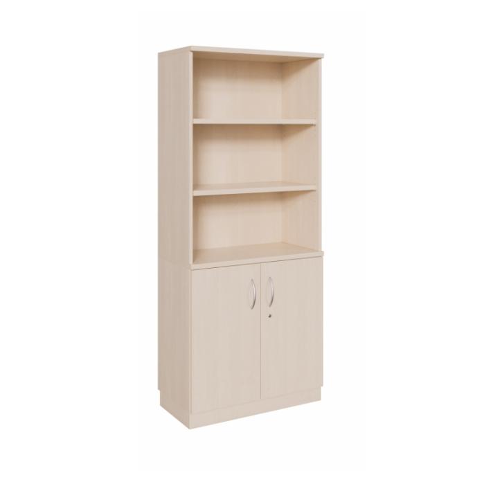 Kombischrank Tür + Regal ohne Mittelwand, 2-türig, Höhe: 190 cm (Variante wählen)