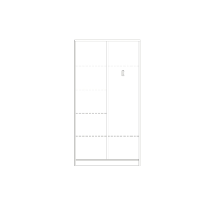 Aktenkleiderschrank mit Mittelwand, Breite: 80 cm, Höhe: 190 cm (Variante wählen)
