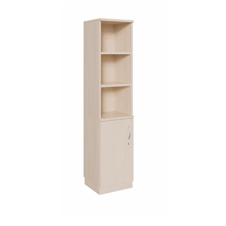 Kombischrank Tür + Regal ohne Mittelwand, 1-türig, Breite: 60 cm, Höhe: 190 cm (Variante wählen)