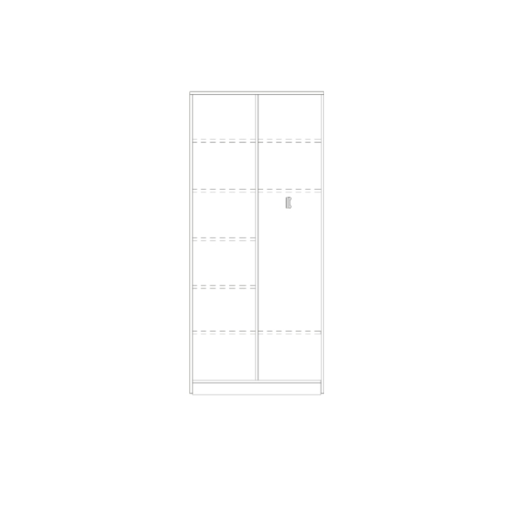 Aktenkleiderschrank mit Mittelwand, Breite: 80 cm, Höhe: 226 cm (Variante wählen)