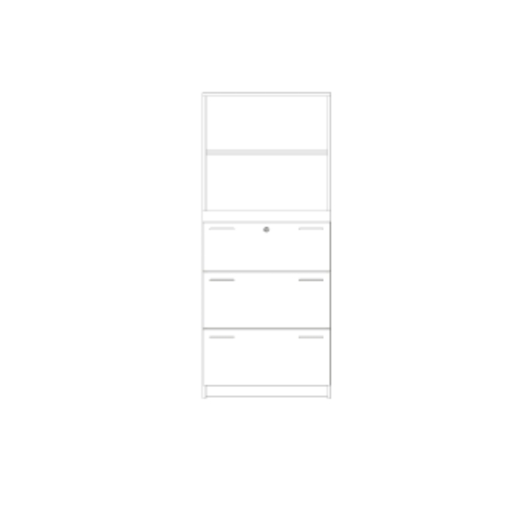 Kombischrank Registratur + Regal, Breite: 80 cm, Höhe: 190 cm (Variante wählen)